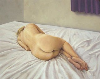 John Carwithen; Enough, 2003, Original Painting Oil, 20 x 16 inches. Artwork description: 241 Sleep can be our escape. ...