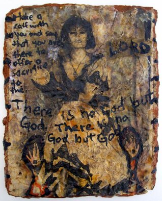 John Douglas; Love Amulets Of The Clums..., 1997, Original Mixed Media, 17 x 20 cm. Artwork description: 241  photography, ink, acrylic paint, semen, urine, boiled newspaper ...