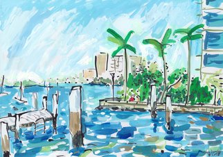 John Douglas; Beare Park, 2017, Original Painting Other, 29.7 x 21 cm. Artwork description: 241 Beare Park, Elizabeth bay, Sydney, Australia. Gouache and ink on paper. From life. ...