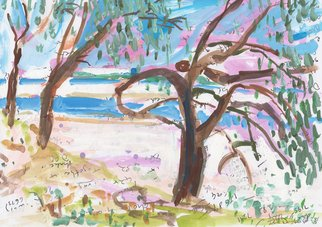John Douglas; Elliot Heads, 2015, Original Painting Other, 29.7 x 21 cm. Artwork description: 241 Elliot Heads, Queensland, Australia.Gouache and pen on paper. From life. ...