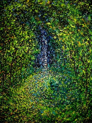 John E Metcalfe; Falling Waters, 2015, Original Painting Acrylic, 30 x 40 inches. Artwork description: 241  Florida, Artist, Original, Acrylic, contemporary fauvism, impressionism, expressionism, pointillism, color, light, texture, ...