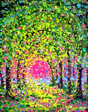 John E Metcalfe; The Arches In Green, 2015, Original Painting Acrylic, 16 x 20 inches. Artwork description: 241 Florida, Artist, Original, Acrylic, contemporary fauvism, impressionism, expressionism, pointillism, color, light, texture, ...