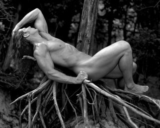 John Falocco; God Of The Forest, 2010, Original Photography Black and White, 11 x 14 inches. Artwork description: 241 Male Nude Photography ...