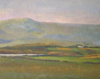 John Pacer; St Johns Point, 2010, Original Painting Oil, 10 x 8 inches. Artwork description: 241  Oil Painting, John Pacer, Landscape, Ireland, St. John's Point, Green, County Donegal    ...