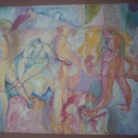 John Powell, , , Original Drawing Other, size_width{Dancers_at_rest-1156082080.jpg} X 18 inches