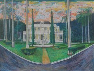 John Powell; Devon House, 2016, Original Watercolor, 24 x 18 inches. Artwork description: 241 Devon House, TOP TOURISTS ATTRACTION IN JAMAICA. Order a print on my POD OR for FASTER SHIPPING GO TO