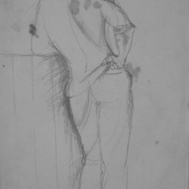 John Powell, , , Original Drawing Pencil, size_width{Drawing_for_Inescapable_Duty-1203695390.jpg} X 36 inches
