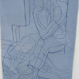 John Powell, , , Original Printmaking Linoleum, size_width{Time_Passes_6-1180726372.jpg} X 12 inches