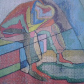 John Powell, , , Original Printmaking Lithography, size_width{Trapped_in_Time__Detail_3-1194280077.jpg} X 9 inches