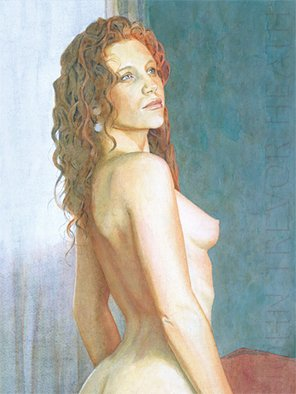 John Heath; Astrid, 2008, Original Painting Acrylic, 31.5 x 42 cm. Artwork description: 241  An original painting also available as a giclee print in a limited edition of 95. The watermark is not on the original painting or prints. ...