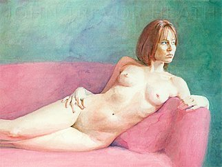 John Heath; Serena, 2008, Original Painting Acrylic, 42 x 31.5 cm. Artwork description: 241  An original painting also available as a giclee print in a limited edition of 95. The watermark is not on the original painting or prints. ...