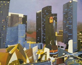 John Trimble; Staycation, 2016, Original Painting Acrylic, 20 x 16 inches. Artwork description: 241  A View of the Las Vegas Skyline...