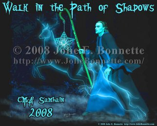 Jolie Bonnette; The Shadow PAth, 2008, Original Digital Art, 10 x 8 inches. Artwork description: 241  This image was created for an event t- shirt design contest. Created in DAZ|Studio and Paint Shop Pro X ...