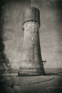 Jonathan O'Hora; Spurn Point Lighthouse, 2017, Original Photography Mixed Media, 20 x 32 inches. Artwork description: 241 Photography: Digital, Black   White and Photo on Paper.Spurn Point LighthousePhotography: 32aEUR X 20aEUR Archival print The earliest reference to a lighthouse on Spurn Point is 1427. From the 17th century there are records of a pair of lighthouses being maintained: a high light and a ...