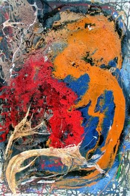 Jorge Arcos; Creating Own Reality, 2007, Original Mixed Media, 32 x 48 inches. Artwork description: 241   An abstract expressionist mixed media painting on wood. ...