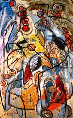 Jorge Arcos; Nahual, 2008, Original Painting Acrylic, 35 x 57 inches. Artwork description: 241   An abstract expressionist acrylic painting on canvas. ...