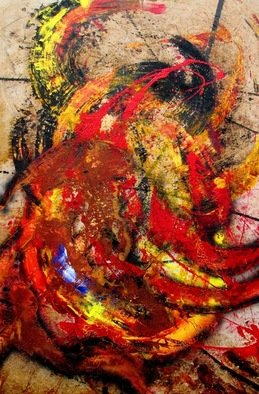 Jorge Arcos; Unbending Intent, 2008, Original Mixed Media, 32 x 48 inches. Artwork description: 241 An abstract expressionist mixed media painting on wood. ...