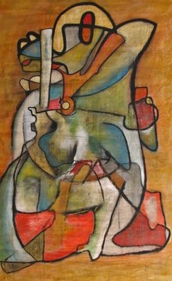 Jorge Arcos; Yanga, 2014, Original Painting Acrylic, 52 x 32 inches. Artwork description: 241   Abstract expressionist   ...