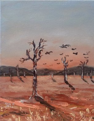 Eve Jorgensen; Australian Outback No 1, 2019, Original Painting Acrylic, 20 x 25 cm. Artwork description: 241 Inspired by the dusty red dirt of central australia. ...