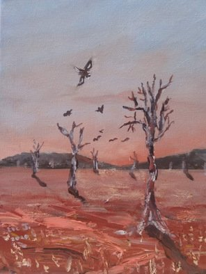 Eve Jorgensen; Outback No 2, 2019, Original Painting Acrylic, 20 x 25 cm. Artwork description: 241 Inspired by the dusty , dry, red earth and sparseness of the vast AustralianCentral Outback...