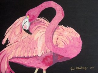 Joshua Goehring; Flamingo, 2007, Original Painting Acrylic, 20 x 15 inches. Artwork description: 241  Original acrylic on illustration board painting. ...