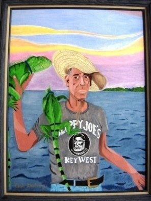 Joshua Goehring; Iguana Man, 2006, Original Painting Oil, 18 x 24 inches. Artwork description: 241  Original oil on canvas panel painting. ...