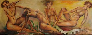 John Biro; Melody, 2009, Original Painting Oil, 208 x 79 cm. Artwork description: 241 oil on canvas...