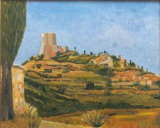 Jean Pierre Vets; Rocca DOrcia, 1998, Original Painting Oil, 60 x 45 cm. Artwork description: 241 Medieval straggling village in Tuscany ( Italy)...
