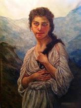 Artist: Joseph Porus', title: Girl in the Italian Alps, 2013, Painting Oil
