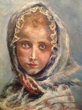 Artist: Joseph Porus', title: Little Girl Bundled, 2013, Painting Oil