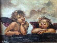Artist: Joseph Porus', title: Raphael Angels Only Differe..., 2013, Painting Oil