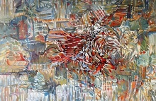Artist: Jan Pozzi's, title: BIRD, 2014, Painting Acrylic
