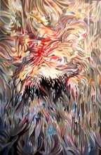 Artist: Jan Pozzi's, title: FIRE, 2014, Painting Acrylic