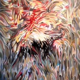 Jan Pozzi, FIRE, 2014, Original Painting Acrylic, size_width{FIRE-1404939993.jpg} X 24 inches