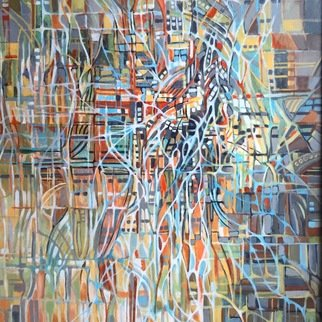 Jan Pozzi; Intersection, 2017, Original Painting Acrylic, 30 x 40 inches.