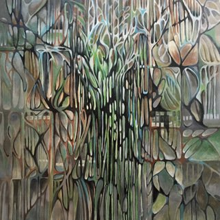 Jan Pozzi; Jan S Garden, 2017, Original Painting Acrylic, 44 x 44 inches.