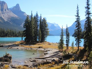 Jill Sneidman; SPIRIT ISLAND, 2017, Original Photography Color, 40 x 30 inches. Artwork description: 241 Jasper National Park Maligne Lake...