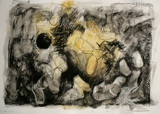 Juan R Correa; Antuerpia, 2008, Original Mixed Media, 100 x 70 cm. Artwork description: 241  Mixed media on paper ...