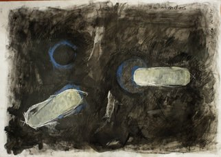 Juan R Correa; Blue Intersection, 2008, Original Mixed Media, 100 x 70 cm. Artwork description: 241  Mixed media on paper ...
