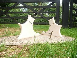 Julia Cake; Waiting patiently, 2015, Original Sculpture Stone, 75 x 27 cm. Artwork description: 241 Two dogs...