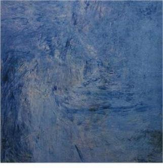 Julia Lin; The Hope Is A Blue Fish 1, 2003, Original Painting Oil, 100 x 100 cm. Artwork description: 241 oil on wood...