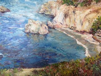 Julie Van Wyk; Point Lobos, 2015, Original Painting Acrylic, 16 x 20 inches. Artwork description: 241  seascape Done with palette knife only no brush work...