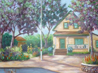 Julie Van Wyk; Clayton Museum, 2011, Original Painting Acrylic, 18 x 24 inches. Artwork description: 241        this painting was featured on the 2011 poster for the annual clayton garden tour in clayton california        ...