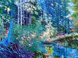 Julie Van Wyk; Fantasy Forrest, 2011, Original Painting Oil, 18 x 24 inches. Artwork description: 241   tahoe trail to blackwood rock   ...