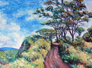 Julie Van Wyk; Kuilau Ridge Trail In Kauai, 2011, Original Painting Oil, 16 x 20 inches. Artwork description: 241 this painting is from a photo i took while walking one of the many trails on the island of kauai...