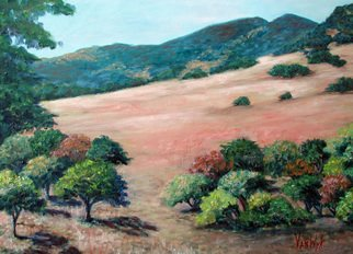 Julie Van Wyk; Mt Diablo From Dana Hills, 2014, Original Painting Oil, 18 x 24 inches.