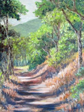 Julie Van Wyk; Mt Diablo Trail, 2014, Original Painting Oil, 16 x 20 inches.