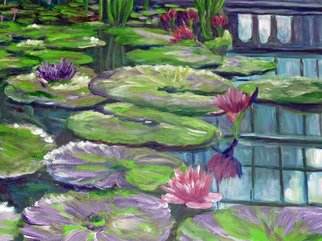 Julie Van Wyk; The Lillies, 2011, Original Painting Acrylic, 16 x 20 inches. Artwork description: 241  this painting is from a photo i took while visiting the hall of flowers in san francisco, ca ...