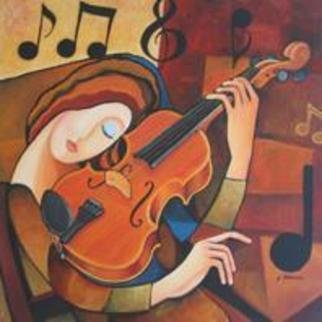 Violin Acrylic Painting By Judy Dollosa Absolutearts Com