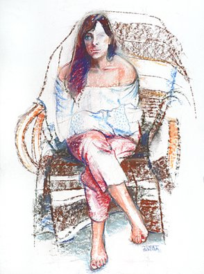 Juraj Skalina; Easy Chair, 2004, Original Pastel, 22 x 28 inches.